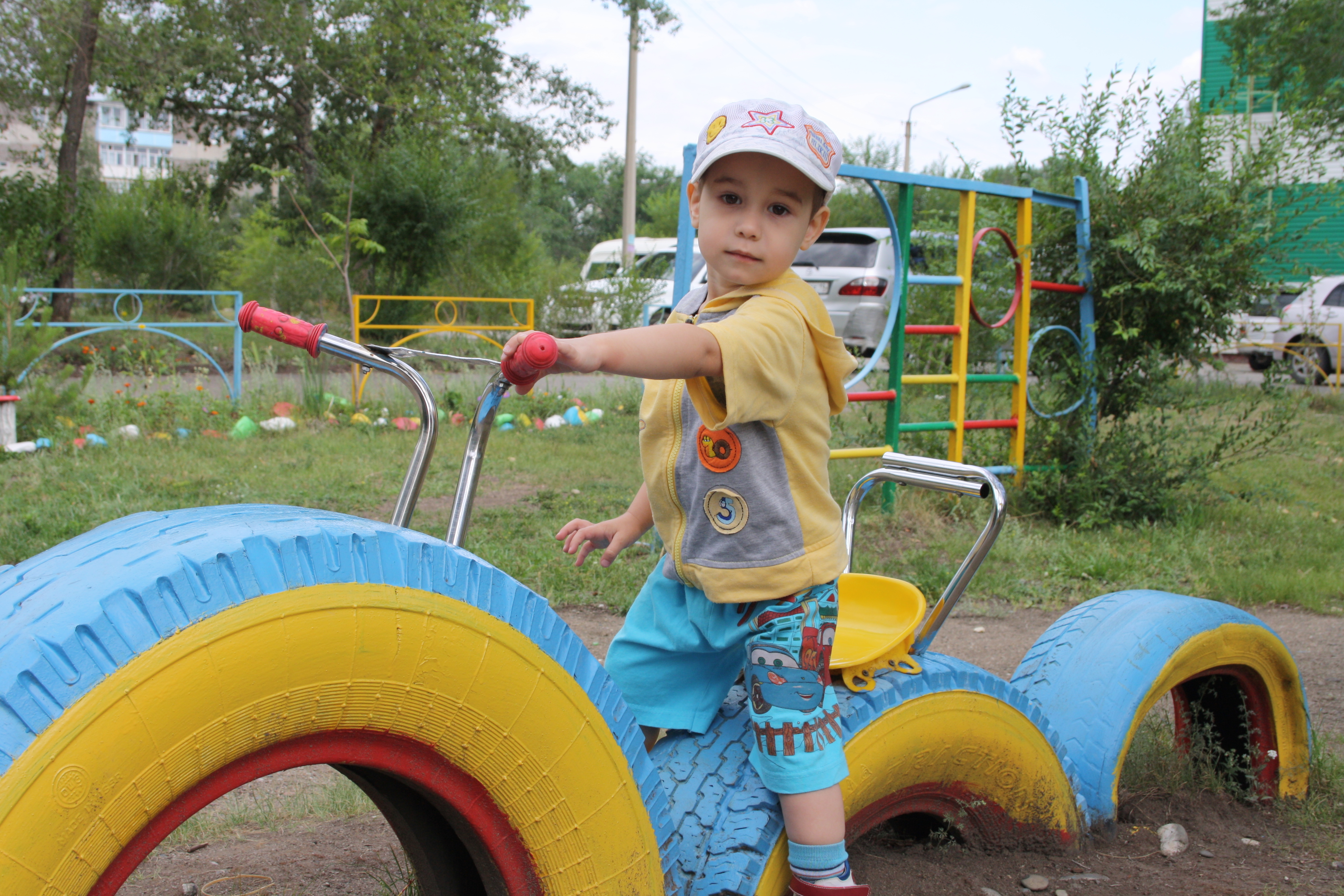 Фото поделок из шин для детского сада